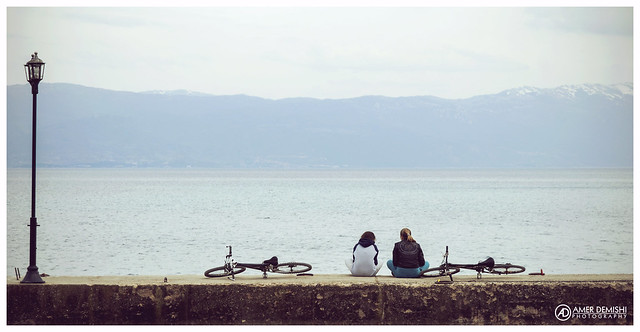Best Friends enjoying the view of Ohrid Lake