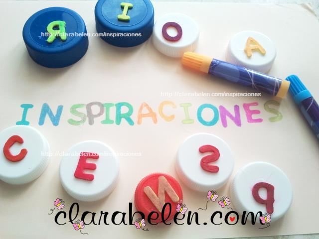 Sellos goma eva para aprender las letras