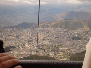 Aerial view of Ecuador