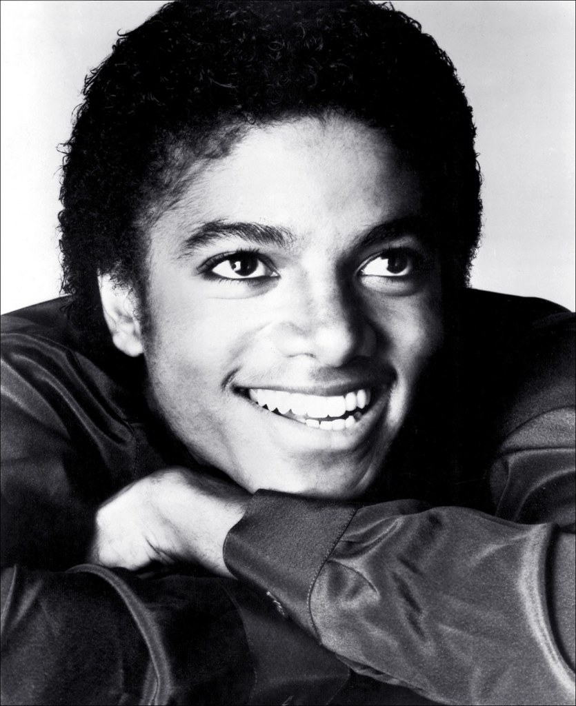 Чёрно-белое фото Майкла Джексона
