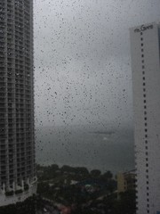 rain from my hotel room
