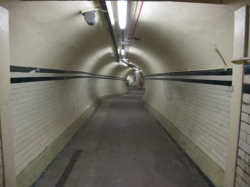 Long corridor from lifts to platform