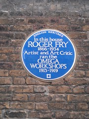 Photo of Roger Fry blue plaque