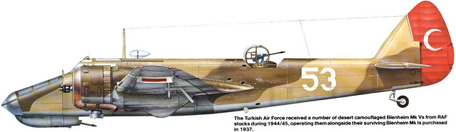 Bristol 160 Blenheim Mk.V Turkish Air Force