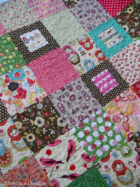 Matryoshka quilt front detail