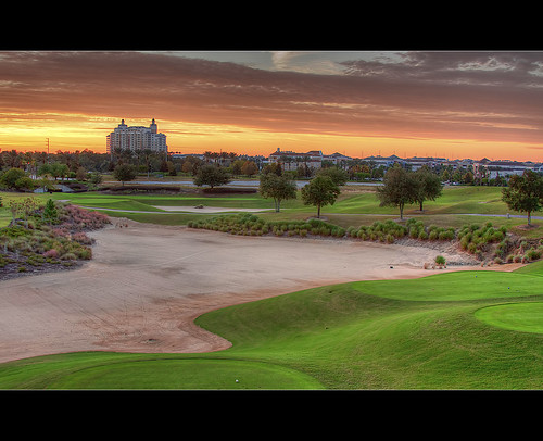vacation reunion sunrise golf hotel orlando florida resort course condo golfing kissimmee hdr