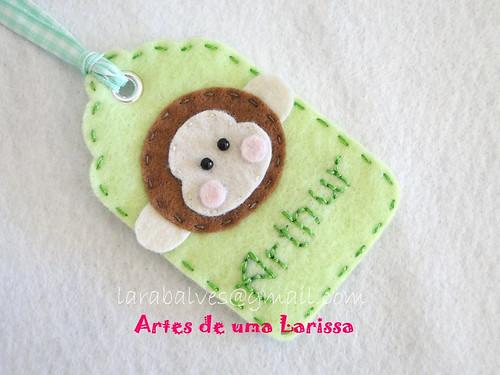 Tag Macaco by Artes de uma Larissa