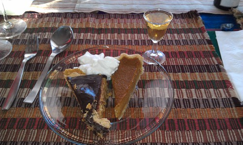 Peanut Butter Pie and Pumpkin Pie