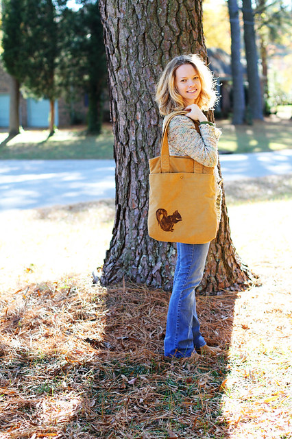 Everyday Bag with Squirrel print