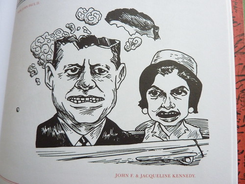 500 Portraits by Tony Millionaire - detail (JFK)