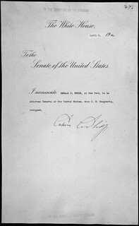 Message of President Calvin Coolidge nominating Harlan F. Stone of New York to be Attorney General of the United States, 04/02/1924