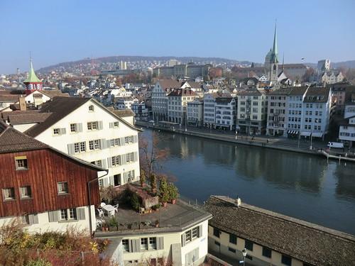 Lindenhof park @ Zurich in Switzerland