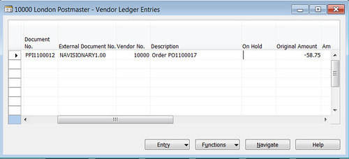 On Hold Field in Vendor Ledger Entry Table