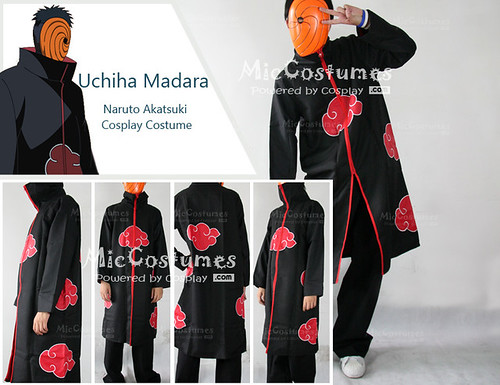 Naruto Uchiha Madara Cloak Cosplay Costume_1