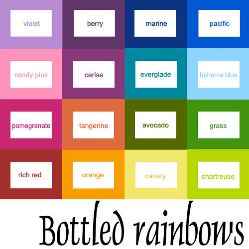 *Updated* Bottled Rainbows Color Grid