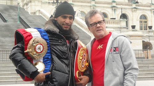 Amir Kahn with renown trainer, Freddie Roach
