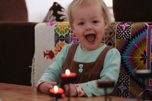 toddler loving advent candles