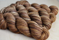 """Chestnut"" on Sundrop superwash merino"