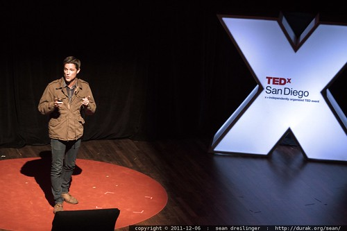 Jason Russell of Invisible Children speaks at TEDxSanDiego in December 2011    MG 4055