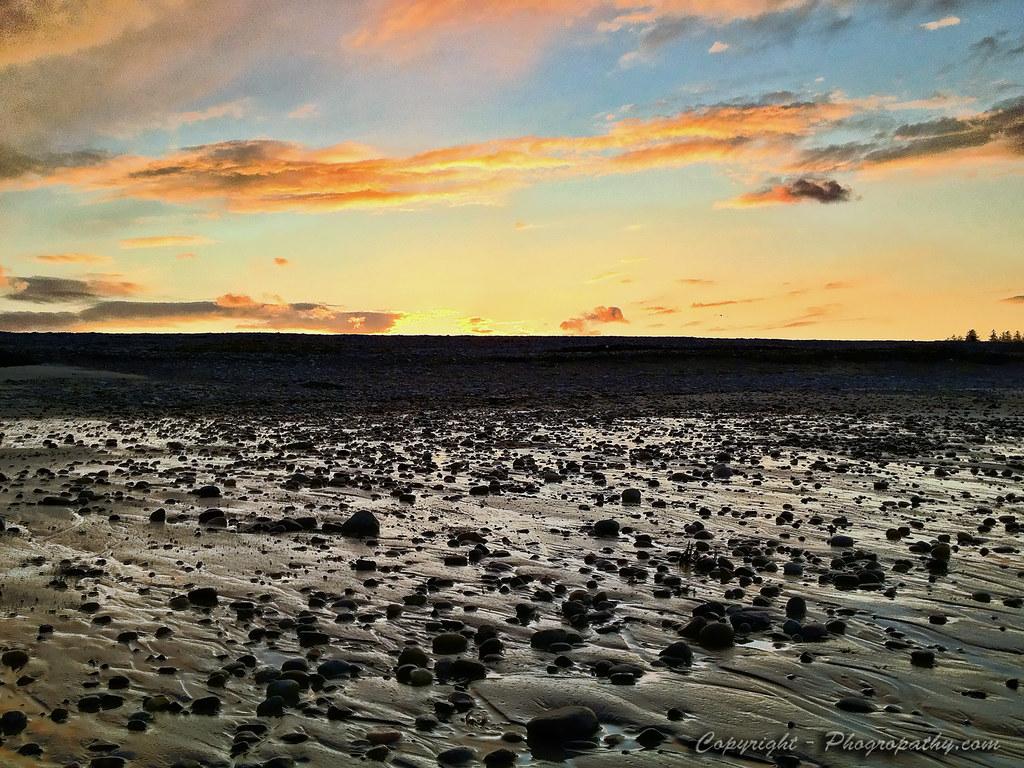 Wet Rocks at Sunset