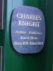 Photo of Charles Knight stone plaque