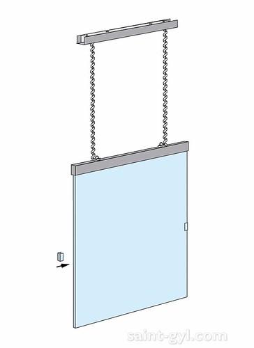 porte-affiche extra-plat lumineux suspendu par cables sch 004