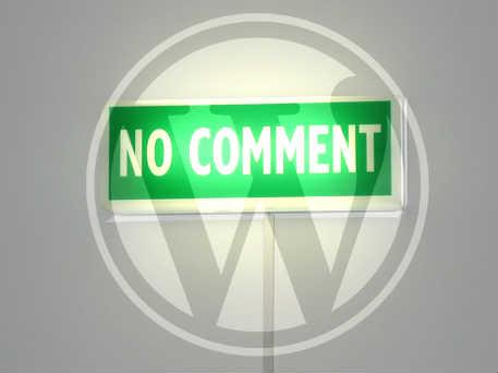 come togliere i commenti da un sito in wordpress