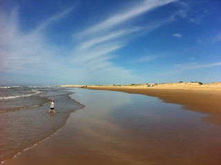 Image of Stockton Beach near Medowie. ocean blue wallpaper sky beach sand wave onemile