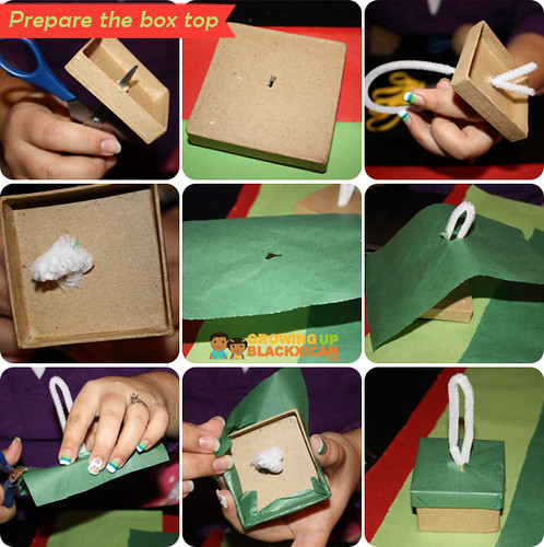 posada pinata ornaments: prepare box top copy