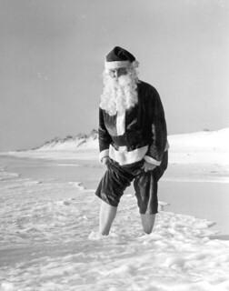 Santa Claus at the beach: Panama City Beach, Florida