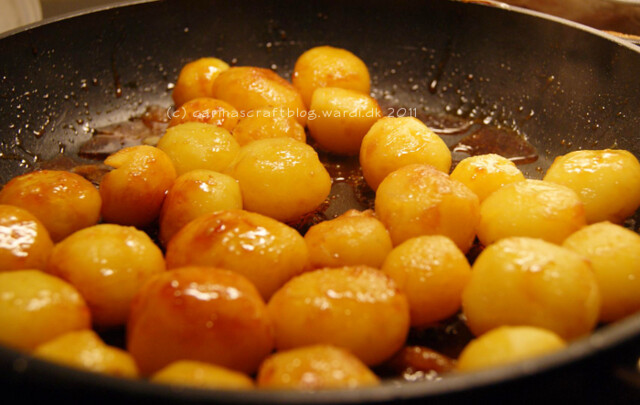 Brunede kartofler - caramelized potatoes