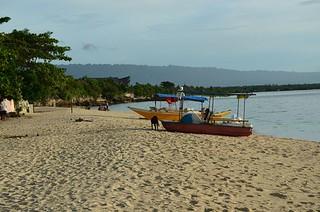 Basdaku White Beach in Moalboal town in Cebu