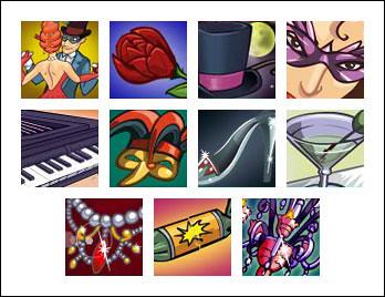 free Masquerade Ball slot game symbols