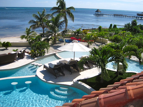 luxury condo ambergris caye beach front and pool