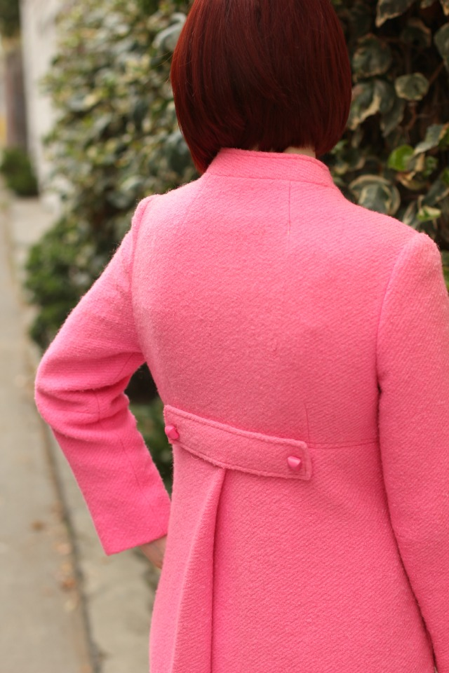 back vintage coat detail