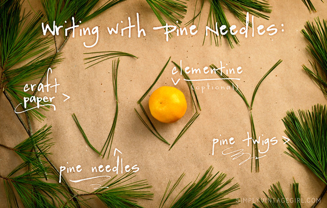 Writing with Pine Needles