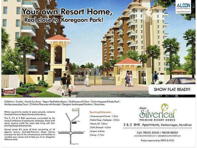 Alcon Silverleaf 2 BHK & 3 BHK Flats at KeshavNagar Mundhwa Pune