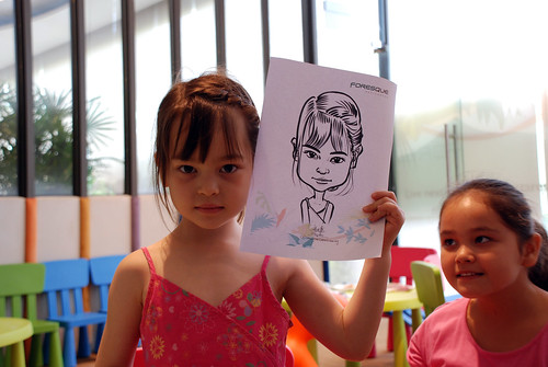 caricature live sketching for Foresque Residences Roadshow - Day 2 - 4