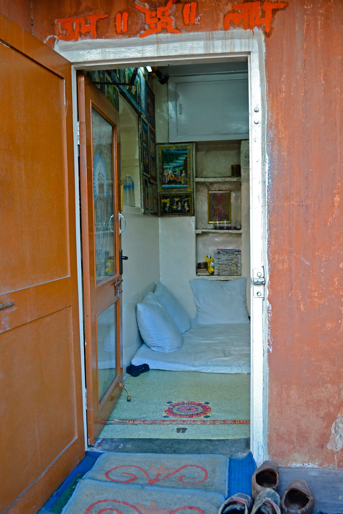 Лавка джайпурского художника.