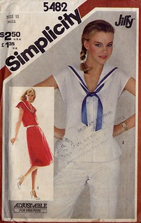 Simplicity 5482 Sailor Collar Dress or Top