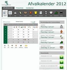 Persoonlijke Afvalkalender Deurne 2012