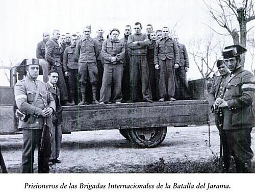 Prisioneros internacionales tras la Batalla del Jarama