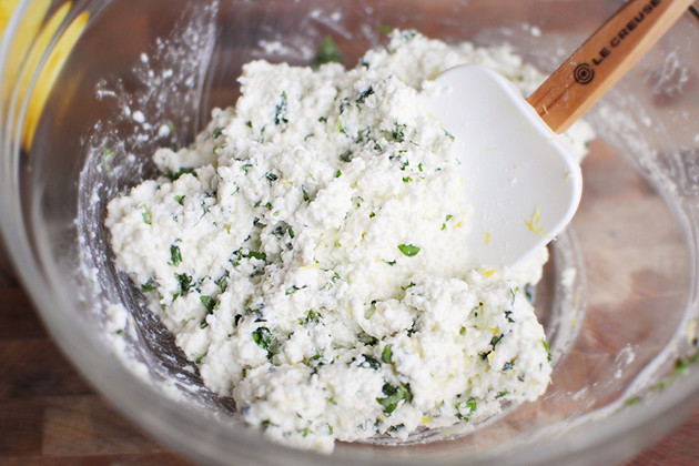 Tasty Kitchen Blog Homemade Ricotta with Lemon and Basil
