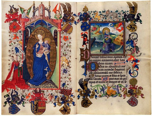 001-The Hours of Catherine of Cleves- alrededor de 1440-  MS M.945 ff. 1v–2r- © The Morgan Library & Museum