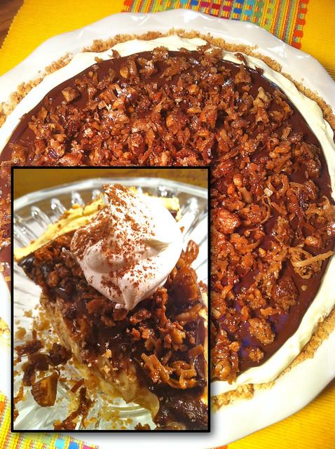 Banana Cream Pie w/Spiced Rum Chocolate Ganache & Pecan Buttercrunch ...