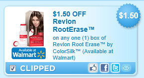 Revlon Root Erase By Colorsilk (available At Walmart) Coupon