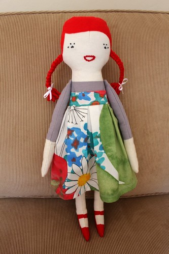 handmade dolly - red