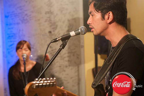 Rico Blanco and Amber Davis at Coke Music Studio - 14