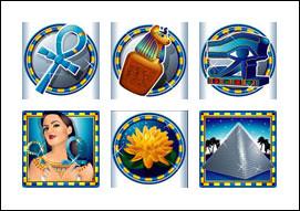 free Platinum Pyramid slot game symbols