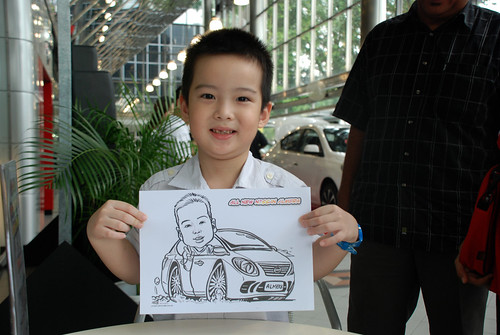 Caricature live sketching for Tan Chong Nissan Almera Soft Launch - Day 1 - 28